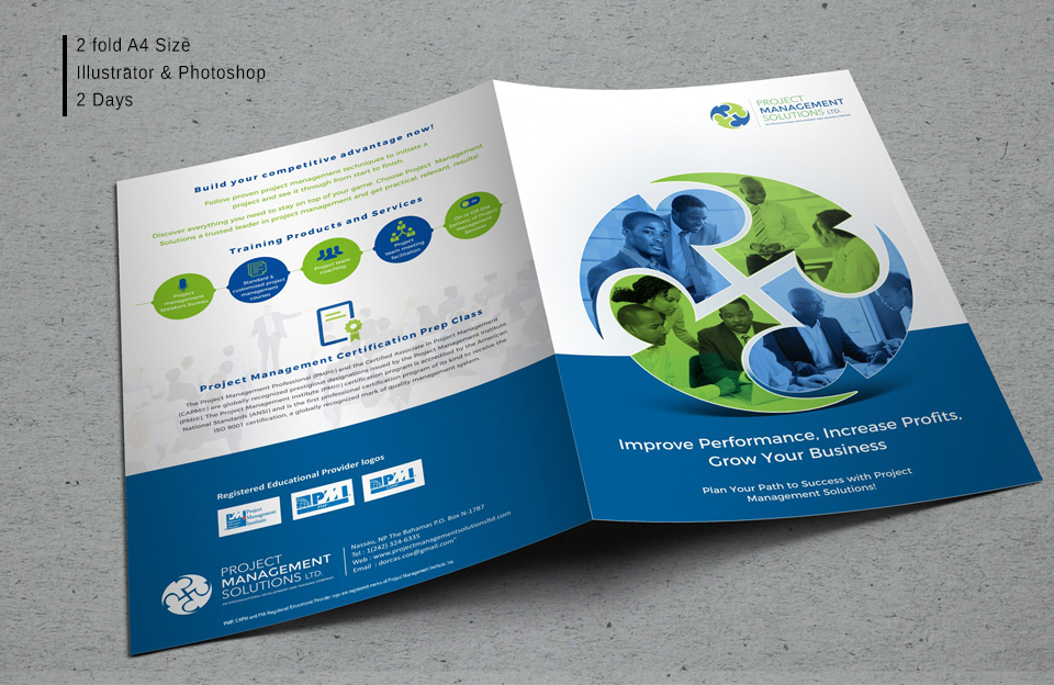 Bi Fold Brochure design services in hyderabad