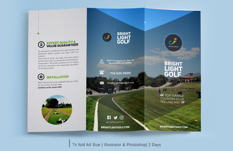 Tri Fold Brochure design services in hyderabad